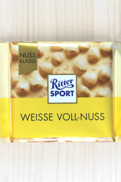 Ritter Sport Weisse Voll-Nuss 100g | Karton à 10 Stück