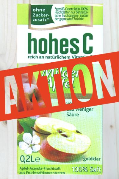 AKTION: Hohes C Milder Apfel 0.2l | Karton à 30 Stück (10x3)