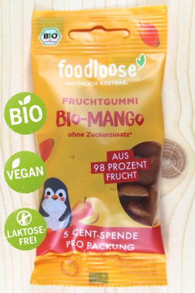 Bio-Fruchtgummi Mango 30g | Karton à 20 Stück